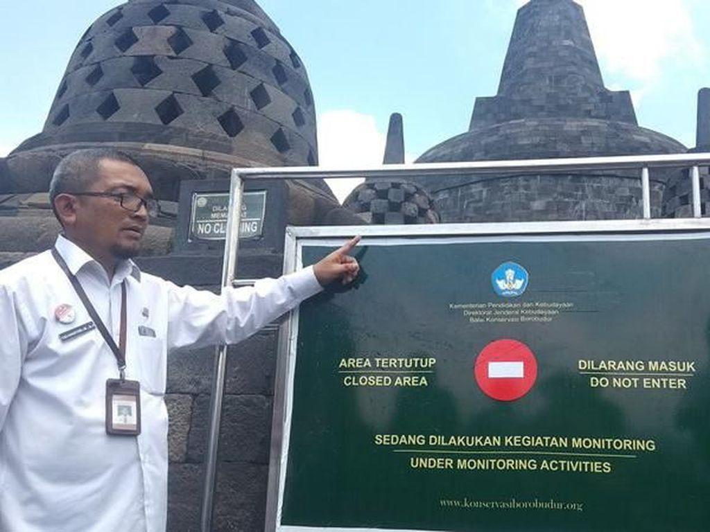 Ini Suasana Pembatasan Pengunjung di Lantai 8 Candi Borobudur