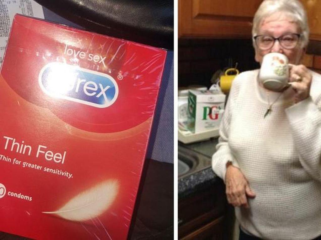 Lupa Bawa Kacamata ke Supermarket, Nenek Ini Beli Teh Keliru Kondom