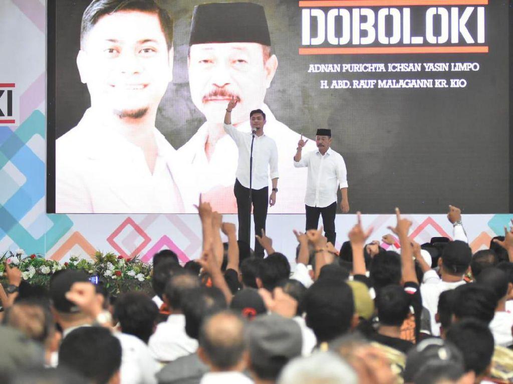 Kembali Berpasangan di Pilbup Gowa 2020, Adnan-Kio Deklarasi Doboloki