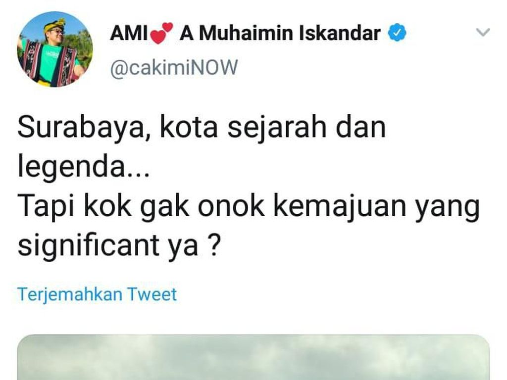 Cak Imin yang Lihat Surabaya dari Ketinggian Disarankan Masuk Kampung