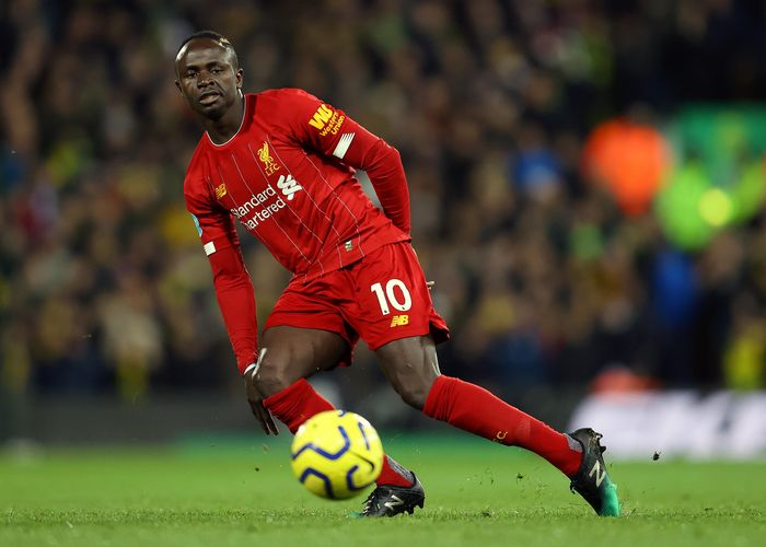 NORWICH, ENGLAND - FEBRUARY 15: Sadio Mane of Liverpool in action during the Premier League match between Norwich City and Liverpool FC at Carrow Road on February 15, 2020 in Norwich, United Kingdom. (Photo by Julian Finney/Getty Images)