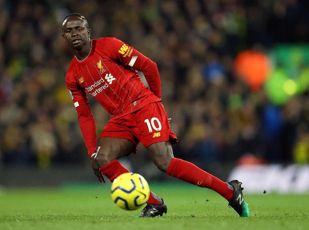 Sudah 100 Gol di Inggris, Sadio Mane: Wow