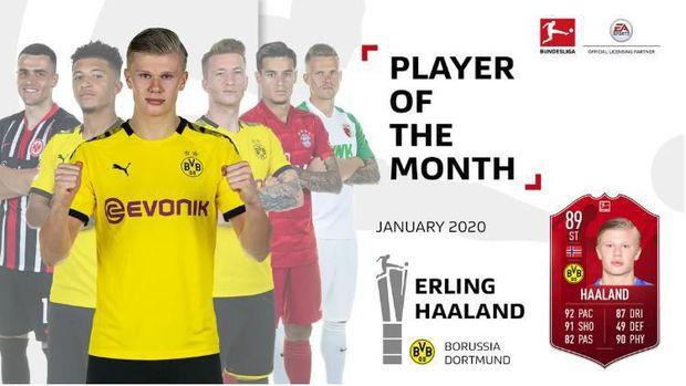 Haaland mencetak 5 gol di Januari dalam waktu kurang dari sejam.