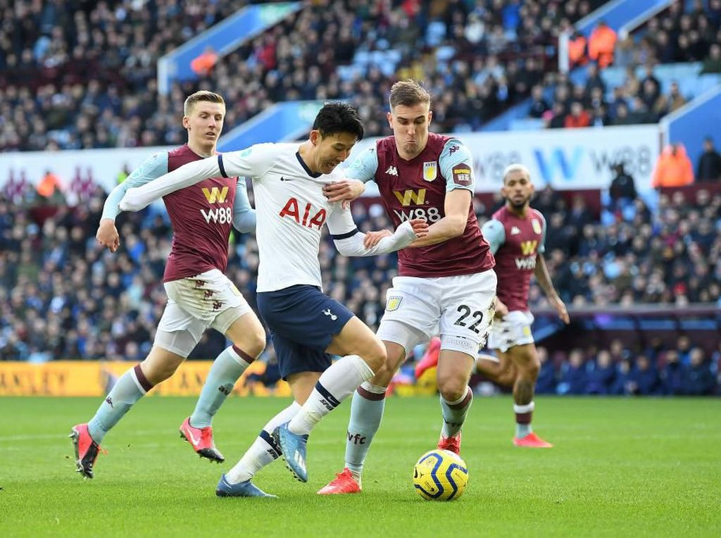 Aston Villa Vs Tottenham: Gol Son di Injury Time Menangkan Spurs 3-2