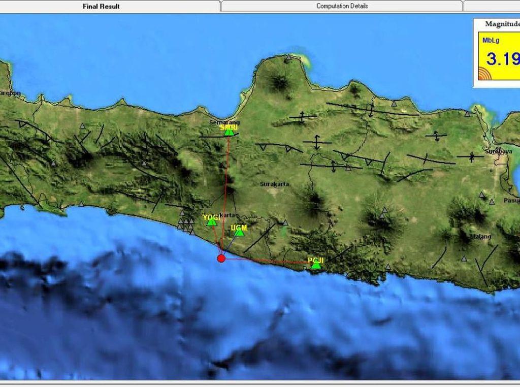 Gempa M 3,2 Goyang Bantul
