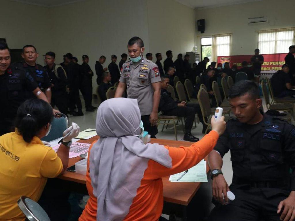 Usai Kawal Karantina WNI di Natuna, 229 Anggota Polda Kepri Cek Kesehatan