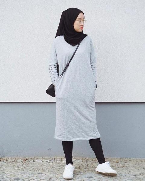 Tetap Sopan Ini Padu Padan Celana Legging Untuk Hijabers