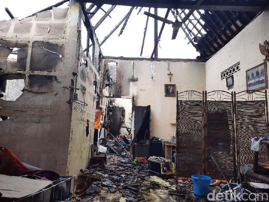 Satu Rumah Ludes Terbakar di Kawasan Pasar Cebongan Sleman