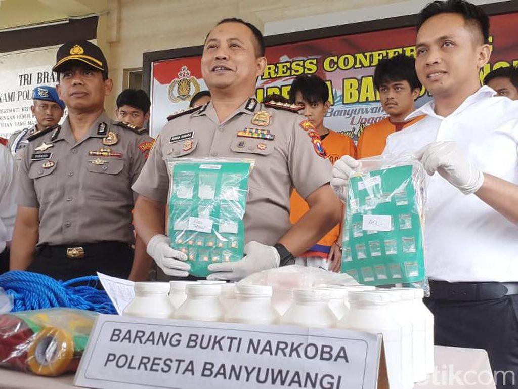 Polisi Banyuwangi Kembali Tangkap Pengedar Narkoba Senilai Rp 70 Juta
