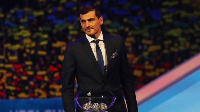 BUCHAREST, ROMANIA - NOVEMBER 30: Iker Casillas, Former Spain player looks on from the stage during the UEFA Euro 2020 Final Draw Ceremony at the Romexpo on November 30, 2019 in Bucharest, Romania. (Photo by Dean Mouhtaropoulos/Getty Images)