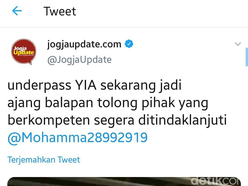 Heboh Video Balapan Dua Mobil di Underpass Bandara Kulon Progo
