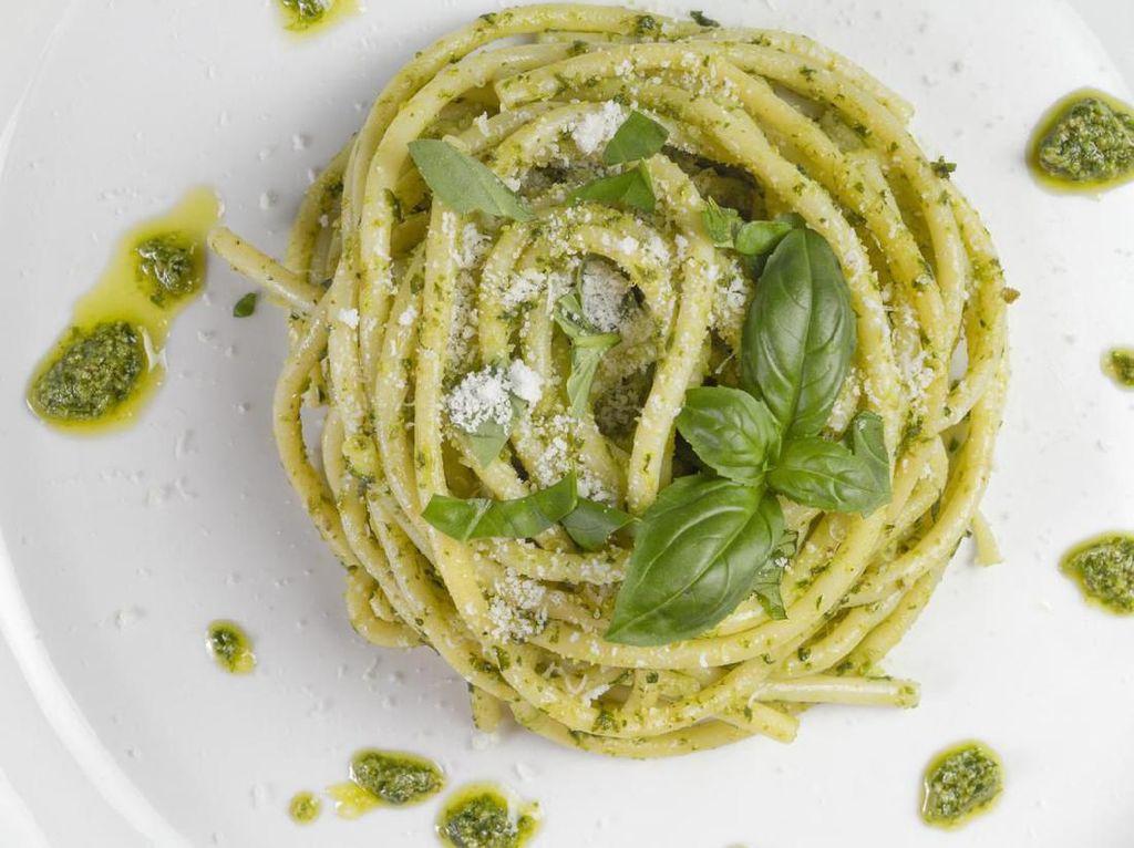 Resep Pasta : Spaghetti Saus Pesto