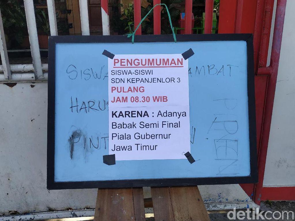 Ada Laga Persebaya VS Arema, 4 Sekolah di Blitar Dipulangkan Lebih Awal