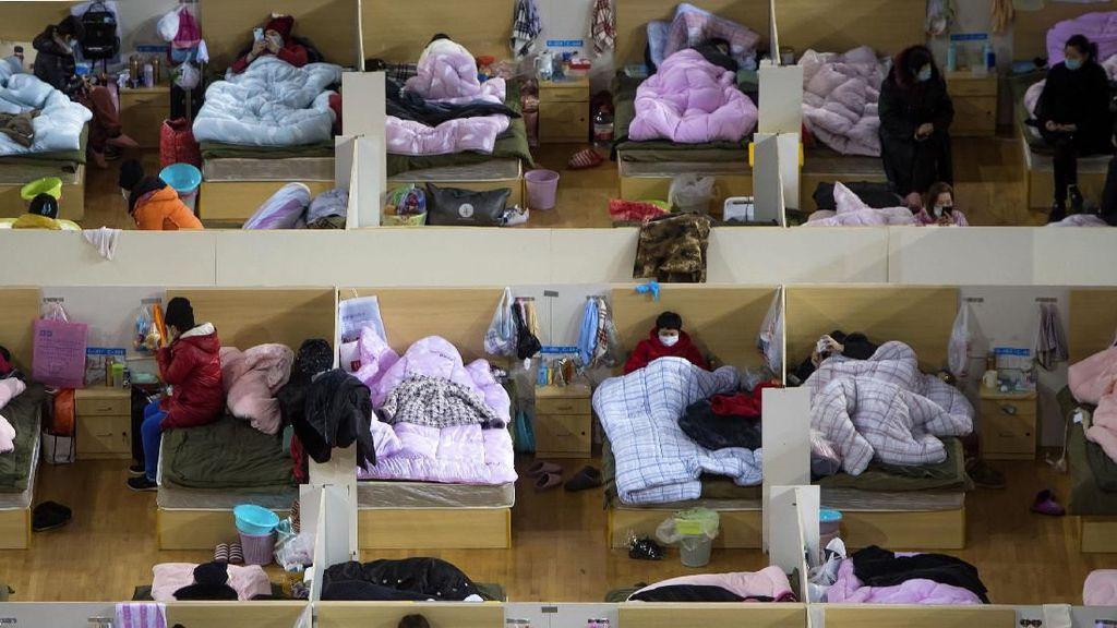Melihat Lebih Dekat Penanganan Pasien Corona di Wuhan Sport Center