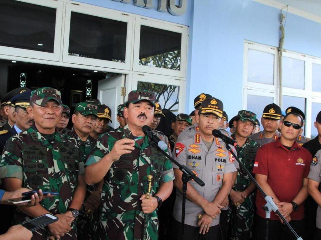 Kunjungi Papua, Kapolri dan Panglima TNI Cek Satgas Nemangkawi-PON XX