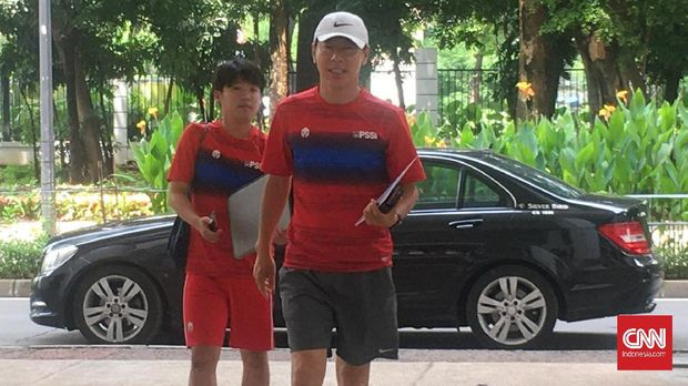 Timnas Indonesia menjalani latihan kelima di pemusatan latihan perdana tim senior bersama Shin Tae Yong, Selasa (18/2).