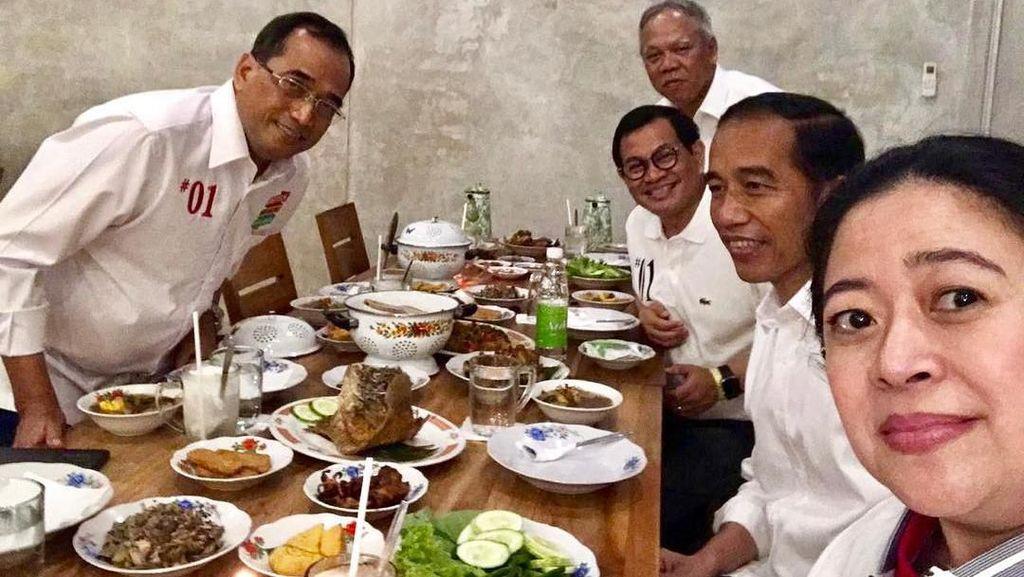 Asyiknya Momen Pramono Anung Makan Bareng Keluarga hingga Rekan Menteri