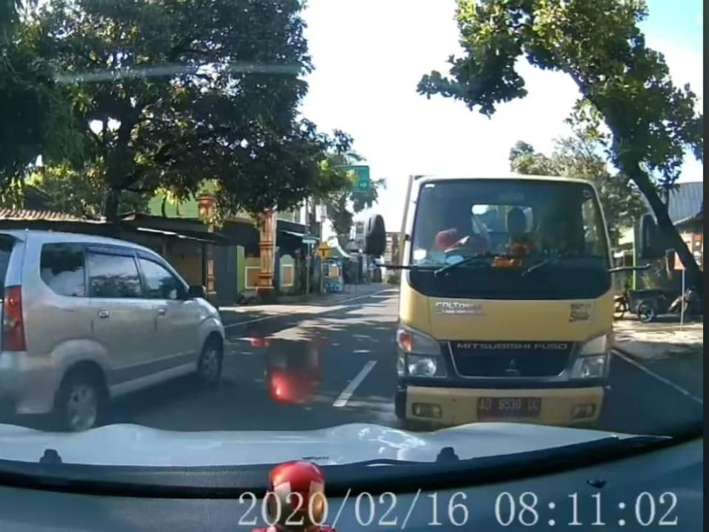 Truk yang Dihadang Mobil Santuy Milik Dinas PUPR Klaten, Polisi Lakukan Ini