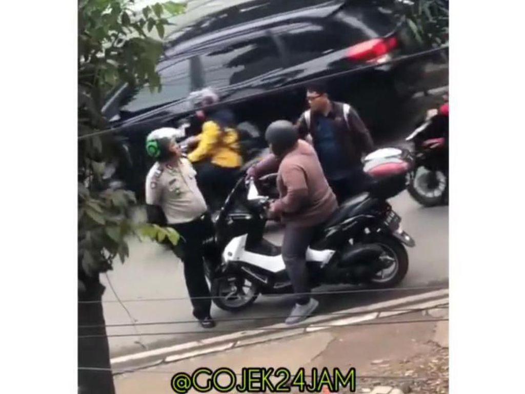 Heboh Pria Berjaket Ojol Ternyata Polisi