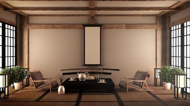 Ilustrasi rumah minimalis Jepang