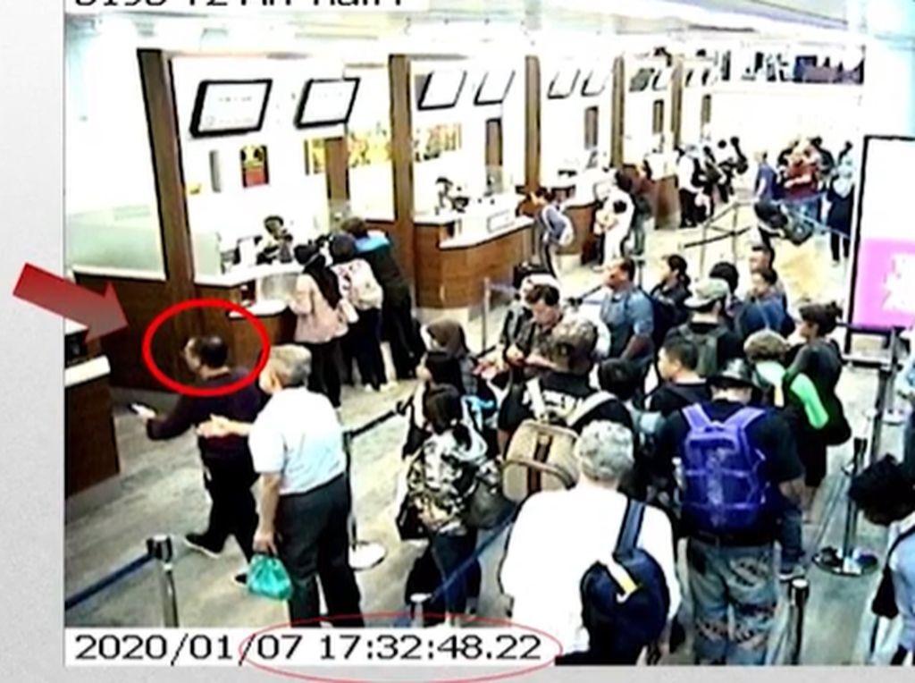 Tangkapan Layar CCTV soal Momen Harun Masiku di Bandara Soetta