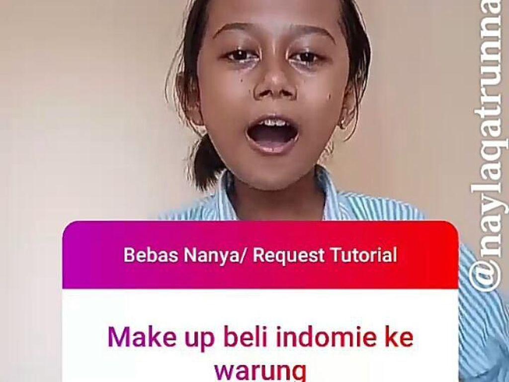 Anak SD Viral Bikin Tutorial Makeup ke Warung, Ini Kisahnya Hadapi Bullying