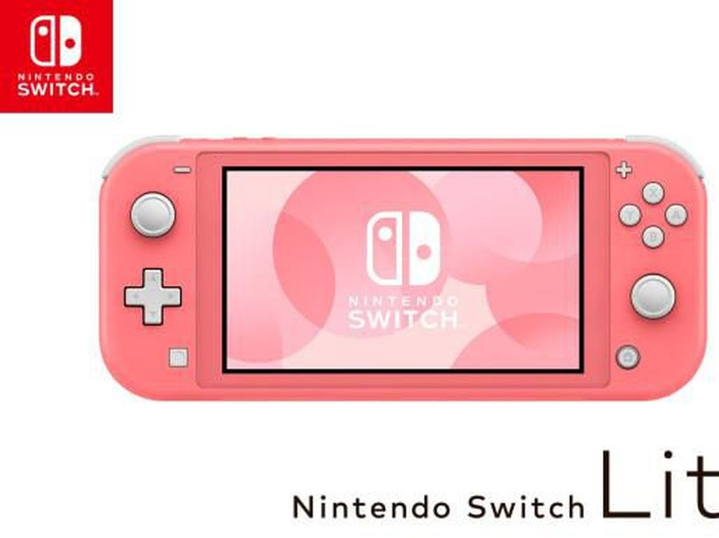 Imut Banget, Nintendo Siapkan Switch Lite Warna Coral Pink