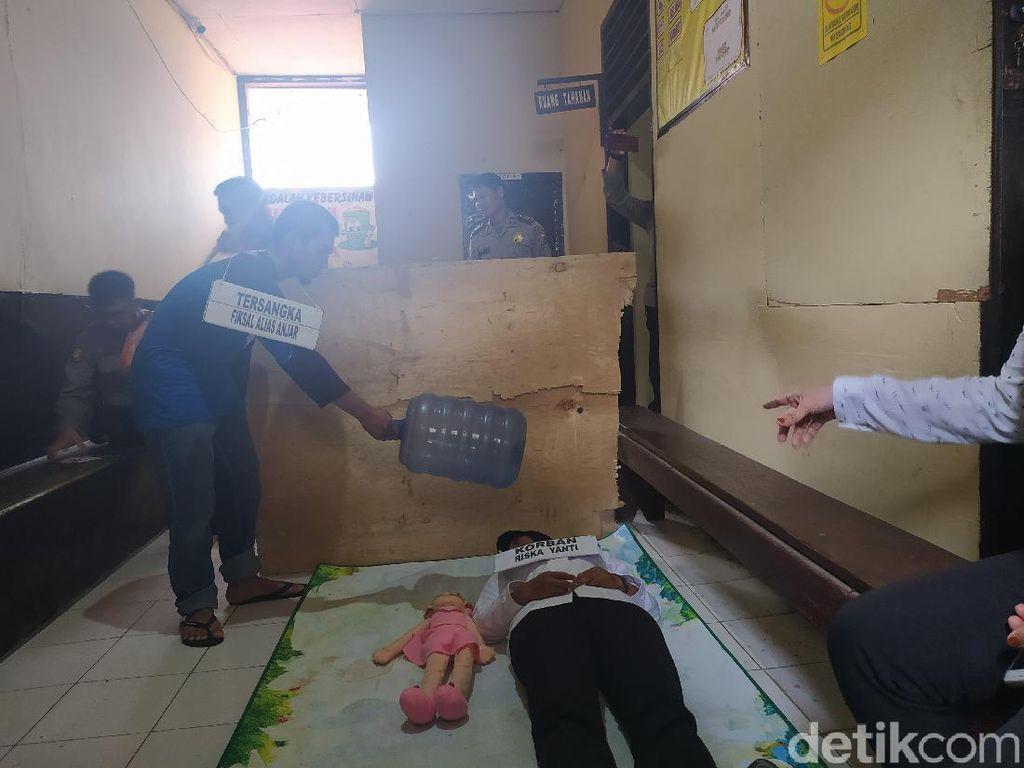 Rekonstruksi Ibu Hamil Tewas Dipukuli Tabung Gas, 18 Adegan Diperagakan
