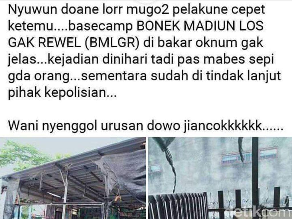 Rekaman CCTV Tak Jelas, Terduga Pembakar Basecamp Bonek Belum Terungkap