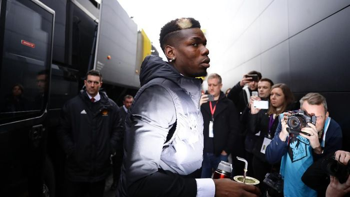 WATFORD, ENGLAND - DECEMBER 22: Paul Pogba of Manchester United arrives at the stadium prior to the Premier League match between Watford FC and Manchester United at Vicarage Road on December 22, 2019 in Watford, United Kingdom. (Photo by Richard Heathcote/Getty Images)