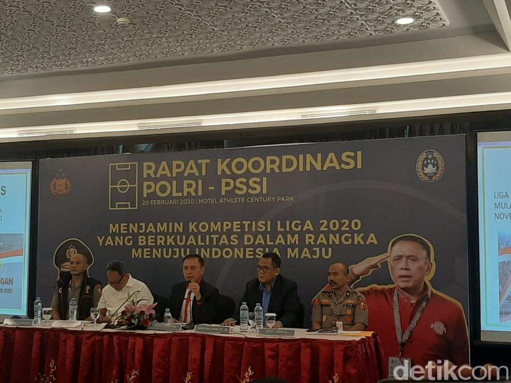 Jelang Liga 1 2020, PSSI Gelar Rakor dengan Polri