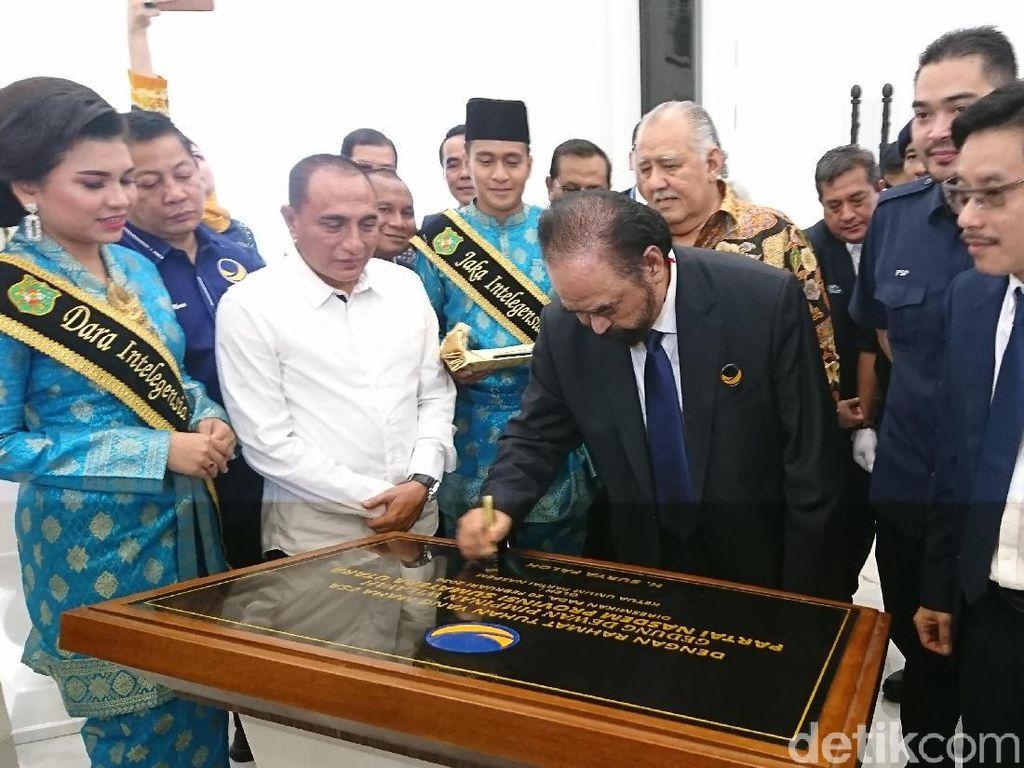 Surya Paloh Resmikan Gedung Baru NasDem di Medan, Gubsu: Jadi Sarang Baru