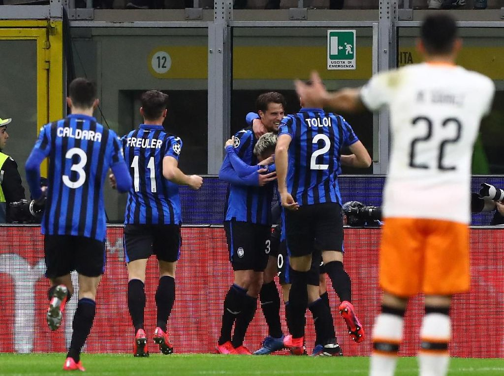 Babak Pertama, Atalanta Ungguli Valencia 2-0