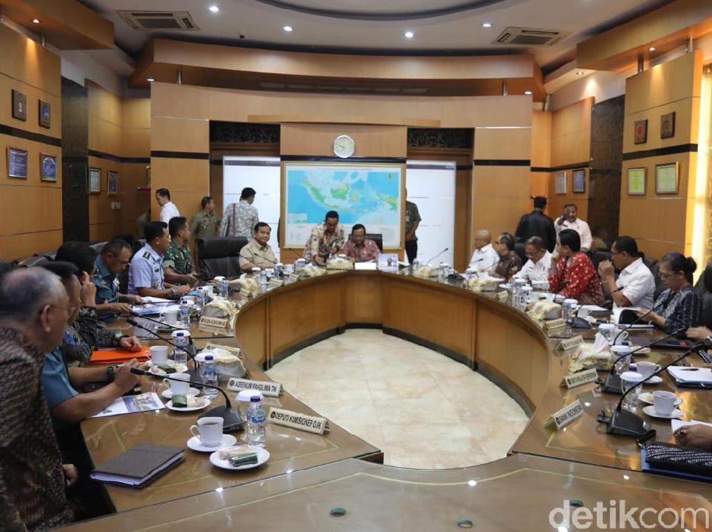 Mahfud Md Pimpin Rakorsus Bahas Alutsista, Menhan Prabowo-KSAD Hadir