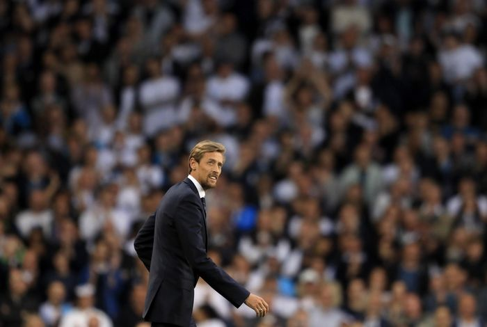 LONDON, ENGLAND - MAY 14: Peter Crouch, ex Tottenham Hotspur player walks out onto the pitch during the closing ceremony after the Premier League match between Tottenham Hotspur and Manchester United at White Hart Lane on May 14, 2017 in London, England. Tottenham Hotspur are playing their last ever home match at White Hart Lane after their 112 year stay at the stadium. Spurs will play at Wembley Stadium next season with a move to a newly built stadium for the 2018-19 campaign.  (Photo by Richard Heathcote/Getty Images)