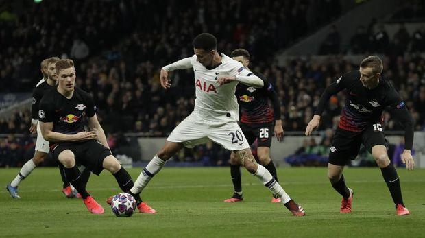 Tottenham kesulitan mencetak gol saat menghadapi RB Leipzig.