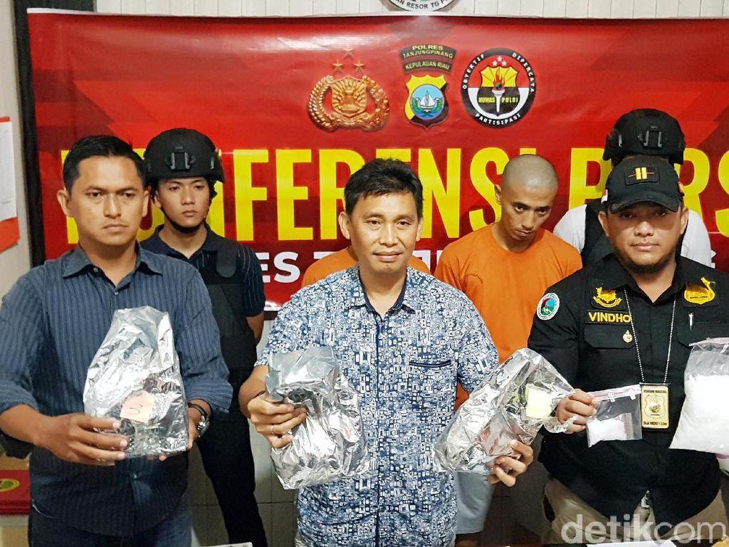 Polisi Tangkap Kurir Sabu 8,5 Kg di Batam, Pelaku Jaringan Malaysia
