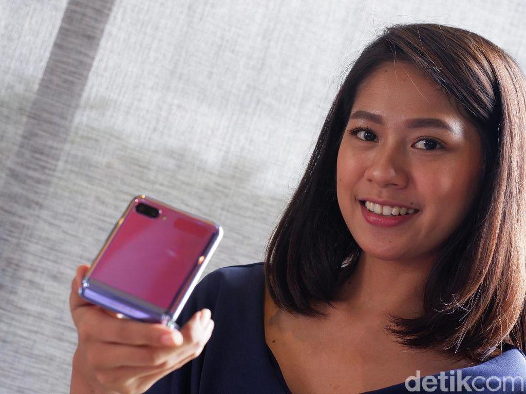 Terhipnotis Keindahan Galaxy Z Flip Mirror Purple