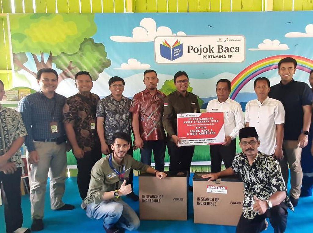 Hadirkan Pojok Baca, Pertamina EP Sumbang 300 Buku ke SD Nunukan