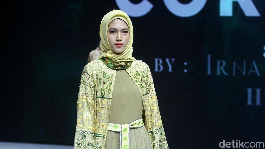 6 Koleksi Busana Muslim Irna Mutiara Bertema Corona di Muffest 2020