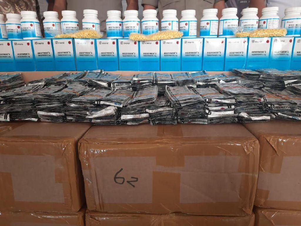 Beroperasi 3 Tahun, Gudang 2 Juta Pil Hexymer di Jakut Beromzet Rp 20,5 M