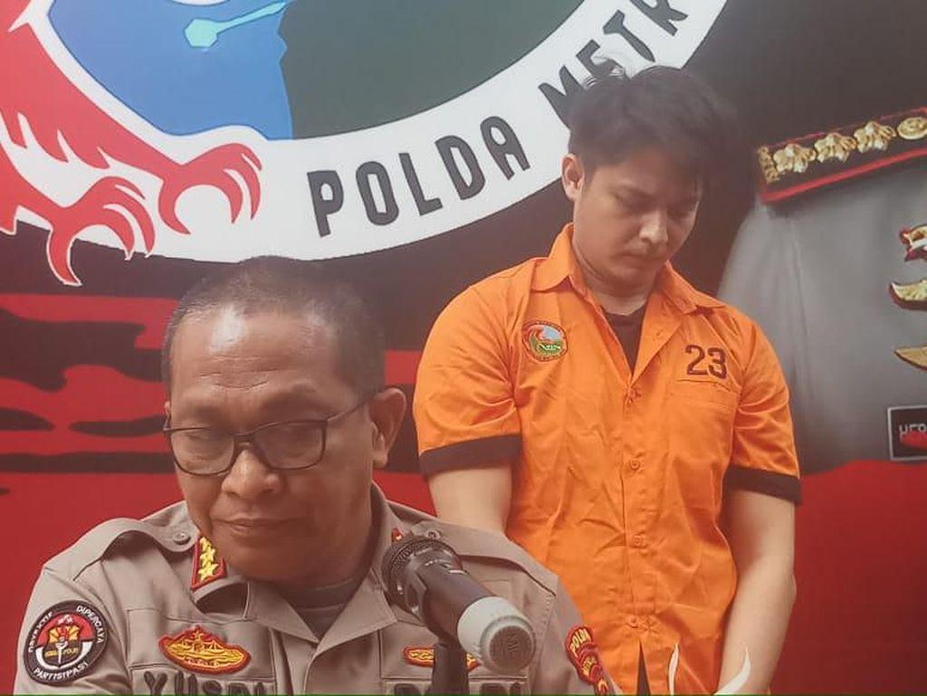Berbaju Tahanan, Ini Penampakan Aulia Farhan yang Ditangkap karena Sabu