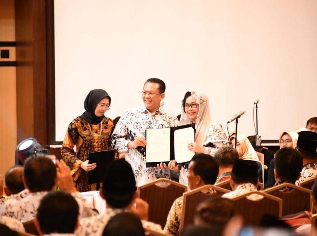 MPR Gaet PGRI Sosialisasikan 4 Pilar bagi Siswa SD hingga Mahasiswa