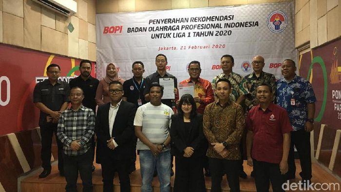 BOPI menyerahkan surat rekomendasi Liga 1 2020 ke PT LIB.