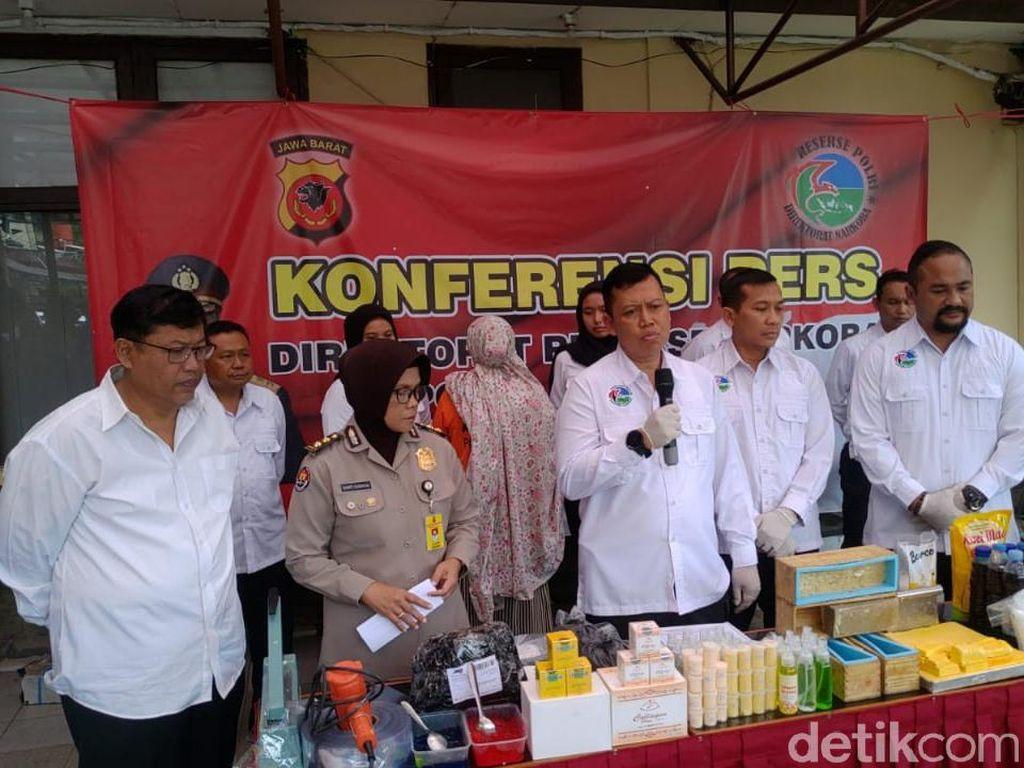 Polda Jabar Bongkar Pabrik Kosmetik Ilegal di Bandung
