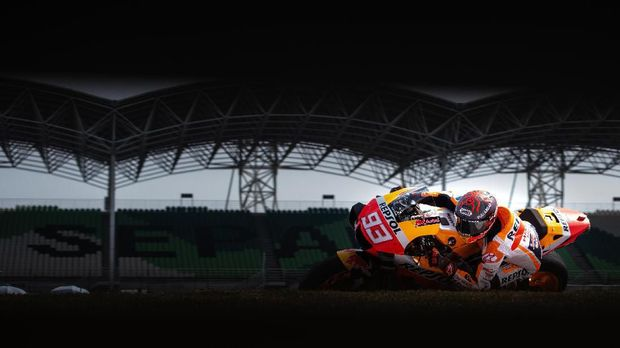 Repsol Honda Team's Spanish rider Marc Marquez takes a corner during the last day of the pre-season MotoGP winter test at the Sepang International Circuit in Sepang on February 9, 2020. (Photo by Mohd RASFAN / AFP)