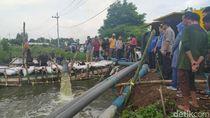 Ditangani Serius, Banjir 1,5 Bulan  di 2 Desa Sidoarjo Mulai Surut