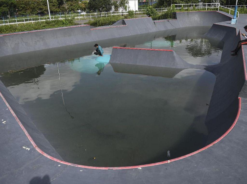 Arena Skateboard Eks Asian Games Jadi Kolam Renang, Pemprov: Kami Keringkan
