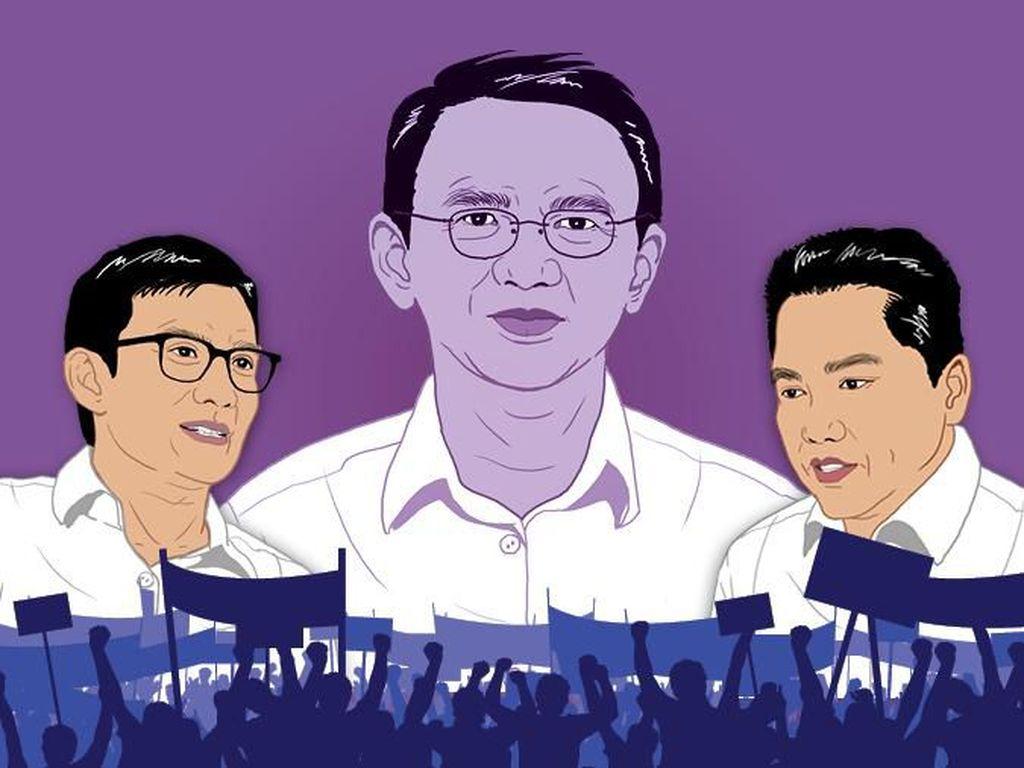 Erick Thohir-Sandiaga Uno Kompak Bela Ahok