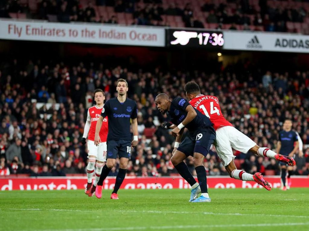 Arsenal Vs Everton: Aubameyang Dua Gol, The Gunners Menang 3-2